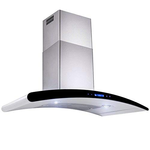 """AKDY New 30"""" European Style Wall Mount Stainless Steel Range Hood Vent Touch Control"""