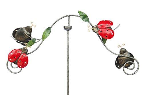 SK Style Gartenwind-Spinner-Skulptur - Marienkäfer-Design