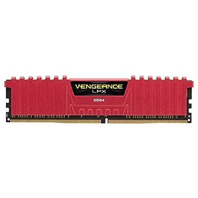 Corsair CMK16GX4M2A2400C16R Vengeance LPX 16 GB (2 x 8 GB) DDR4 2400 MHz C16 XMP 2.0 High Performance Desktop Memory Kit, Red