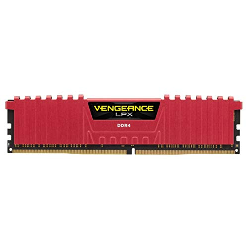 Corsair Vengeance LPX 16GB (2x8GB) DDR4 2400 MHz C16 XMP 2.0 High Performance Desktop Arbeitsspeicher Kit, Rot