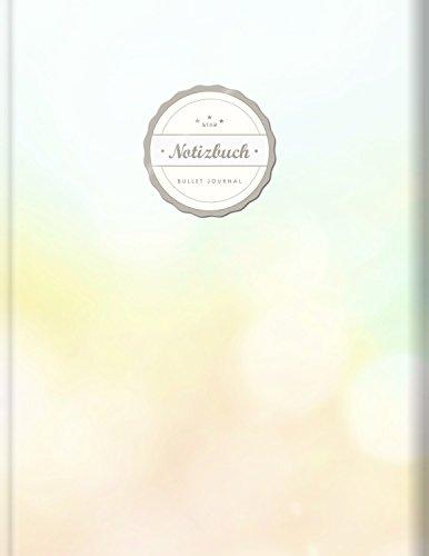 """BULLET JOURNAL (©Star, A4, 156 Seiten, Softcover)    Mit Register    XXL Punktraster Notizbuch, Tagebuch, Gepunktete Seiten, Dot Grid Notebook, """"Blurry"""""""