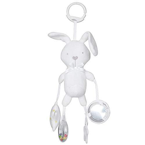 【Especial de Año Nuevo 2021】Cómodo y suave cochecito de juguete, juguete para perro mapache, maravilloso regalo para el hogar, regalos de Navidad, regalos de Pascua, regalos de Acción de(White rabbit)