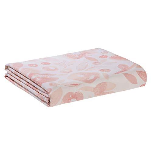 AmazonBasics - Sábana encimera de microfibra premium (275 x 275 cm), rosa acuarela