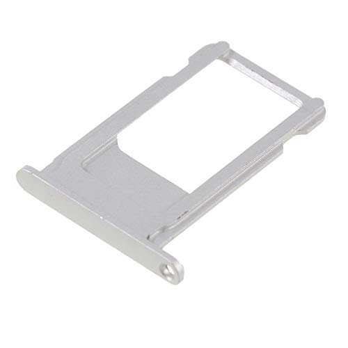 jbTec SIM-Tray/Halter passend für Apple iPhone 6s Plus - Slot Karte Schlitten Rahmen Holder Handy Card Ersatz Fach Phone, Farbe:Silber