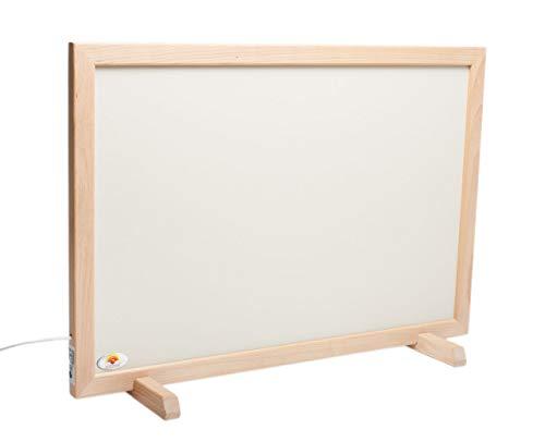 Infrarood staande verwarming keramiek met beukenhouten frame wit, 480 watt, 1060 x 560 x 30 mm