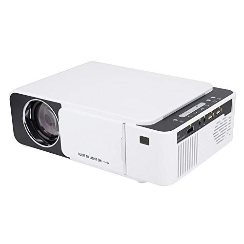 WiFi LED HD Proyector Portátil Doméstico con Remoto Control, USB HDMI VGA Proyector Multifuncional de Gran Pantalla de Proyección de 30-170 Pulgadas, Múltiples Idiomas, Soporte 1920x1080(Blanco)