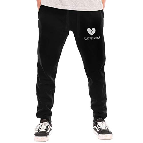DKyuuj Rap Broken Heart Graphic Men's Joggers Long Pants Elastic Waist Athletic Jogging Sweatpant Loose-Fit with Pockets Black