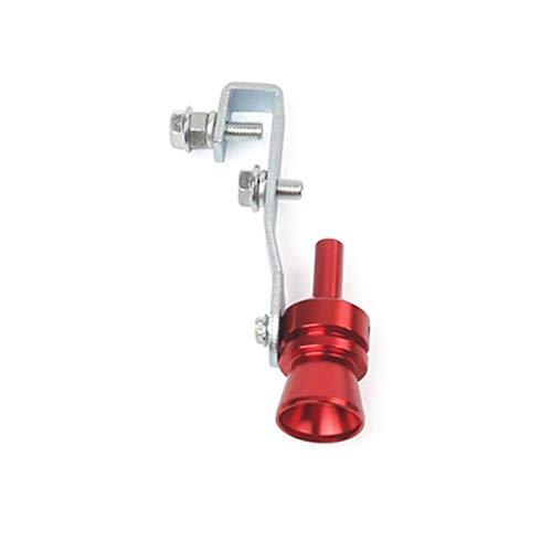 CAIZHIXIANG Escape Falso Turbo silenciador Soplo de válvula Silbato Pipa de Sonido simulador Silbato m (Color : Rojo, Size : Gratis)