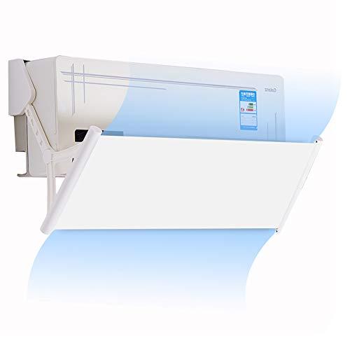 DOOGDOOG Deflettore del condizionatore, Deflector de AIRE Acondicionado Retrattile Deflexión de 180 grados(White)