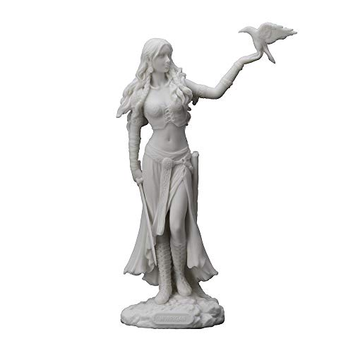 Veronese Design 11' Tall Resin Cast Marble Finish Morrigan Celtic Great Queen Irish Goddess of Birth Battle and Death Statue Figurine