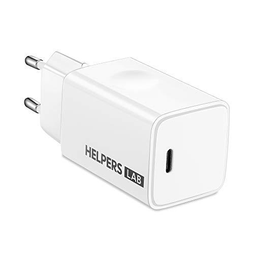 Cargador USB C 65W con Tech GAN Cargador de Pared USB Tipo C Power Delivery 3.0 y PPS QC3.0 Carga Rápida para MacBook Pro/DELL XPS/iPhone 12/11/iPad Pro/Thinkpad/Xiaomi Mi 10/Galaxy Note10 S20