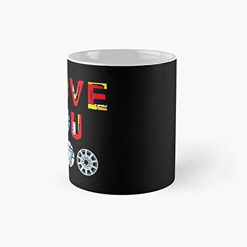 Taza clásica I Love You 3000 V3 | El mejor regalo divertidas tazas de café de 325 ml