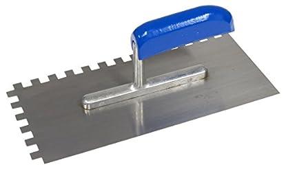Foto di CON:P CP781246 - Cazzuola dentata, 280 x 130/8 x 8 mm, in metallo