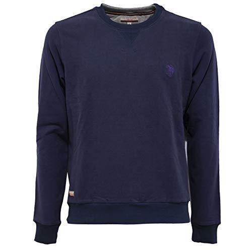 U.S. POLO ASSN. 7936AB Felpa Uomo Blue Garment Dyed Sweatshirt Man [M]