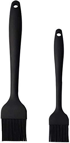 EKKONG Grill Pinsel [2ER Set] Grillpinsel für BBQ & Küchenpinsel,Silikonpinsel zum Backen -Professionelle Küche Backen Kochen BBQ Pinsel -Öl Pinsel für Pfanne
