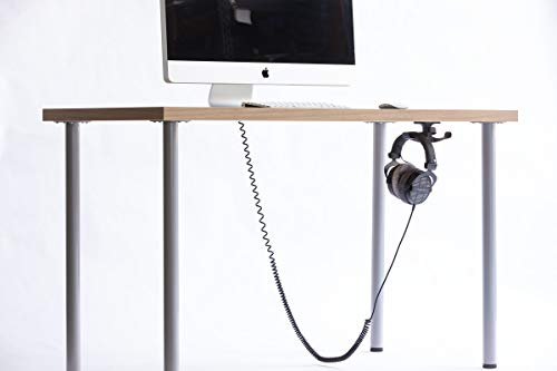 The Anchor Pro - Extra Strong Under-Desk Headphone Stand Mount with Built-in Cord Management