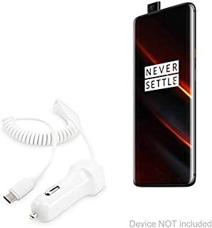 OnePlus 7T Pro McLaren Edition Car Charger, BoxWave [Car Charger Plus] Car Charger and Integrated Cable for OnePlus 7T Pro McLaren Edition - White