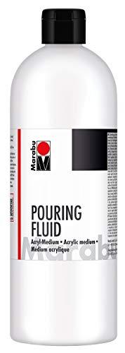 Marabu 12320016885 - Pouring Fluid Acrylmedium 750 ml, Dünnflüssiges Medium für Gießanwendungen und Fließtechniken, verbessert die Verlaufseigenschaften von Acrylfarben, nicht vergilbend