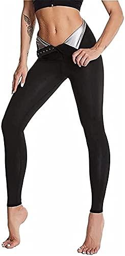 LIUPING Leggings para Mujer, Pantalones Deportivos para Adelgazar, Pantalones Largos para Adelgazar Y Adelgazar Pantalones Delgados De Neopreno para Sauna con Cintura Alta para Una Piel Más Firme