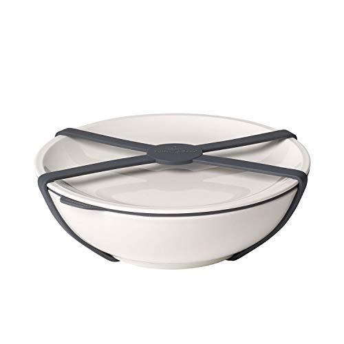 Villeroy & Boch To Go Schale L, Premium Porzellan/Silikon, weiß, 800ml randvoll gemessen