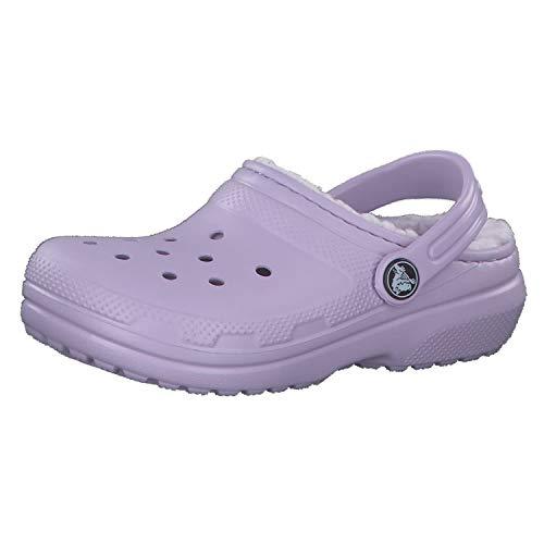Crocs Unisex-Kinder Classic Lined Kids Clogs, Violett (Lavender/Lavender 50p), 19/20 EU