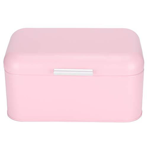 Organizador de pan, contenedor de pan de diseño compacto para el hogar antideslizante, accesorio de cocina rosa para panadería de 30,5x20x15 cm