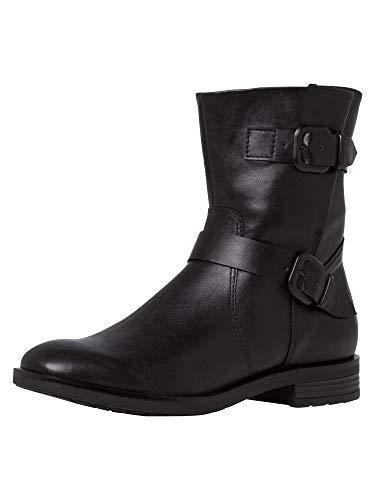 Tamaris Damen Stiefelette 1-1-25054-25 001 schwarz weit Größe: 40 EU