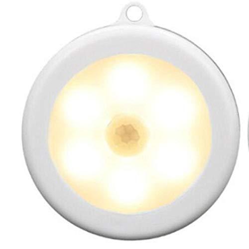 LED Nachtlampje 6 Draadloze PIR Infrarood Menselijke Beweging Sensor Inductie lamp Wandlamp Kastje Trappen Automatische lamp