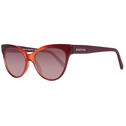 United Colors of Benetton Unisex-Erwachsene BE998S04 Sonnenbrille, Rot (Red), 53