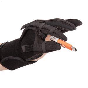 NEOFECT Extender Plus – rehabiliteringhandske i spasticitet efter slag, ryggmärgsskada, SHT för flexibel, extension, fina motoriska färdigheter och koordination (X-stor, vänster)