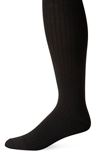 Dr. Scholl's Men's Microfiber Cotton Compression Over-The-Calf Support Socks, Black, Shoe Size: 13-15