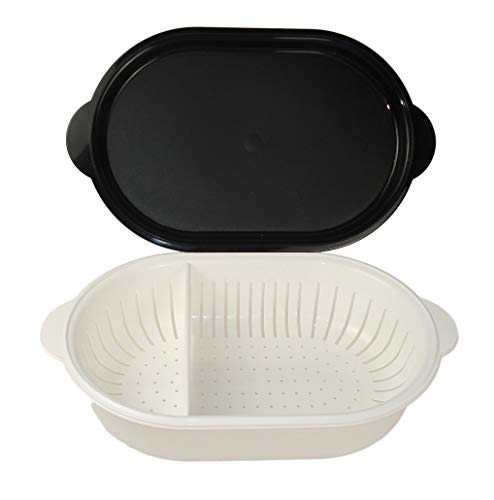 TUPPERWARE Küchenhelfer Sieb Super Servierstar 4L schwarz-weiß Küchenchef