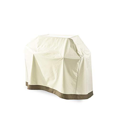 Lumaland Grillabdeckung Grill Abdeckhaube 152,4 x 63 x 125 cm - Wasserdicht - Reißfestes Gewebe Oxford 600D 280 g/m² - Abdeckplane für Gasgrill BBQ - Wetterfest, UV-beständig, Ganzjahr - in Beige