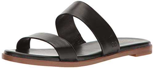 Cole Haan FINDRA Sandal Flat, Black, 9 B US
