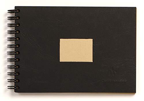 Clairefontaine 8370C Skizzenblock mit Doppelspirale und Kraftpapier, Din A6, 10.5 x 14.8 cm, 60 Blatt, 90 g Packung, braun