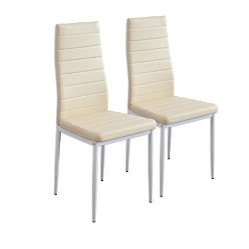 Albatros 2866 MILANO Set di 2 sedie da pranzo, beige