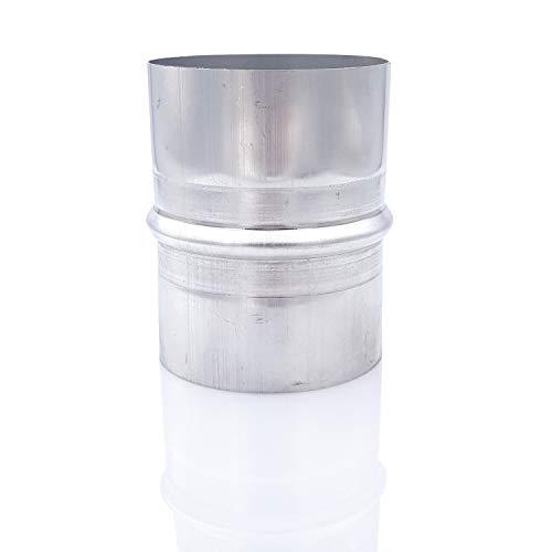 Tygerix - Manguito de acoplamiento de acero galvanizado para tubos flexibles de diámetro 60 mm