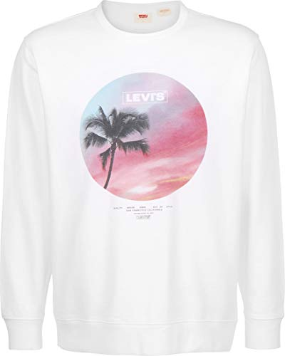Levi's® Graphic Crew B Sudadera Garment Dye White