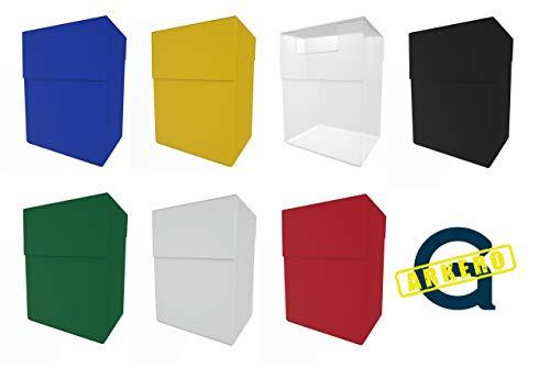 Arkero-G® 80+ Deck Boxen - 7 Stück Platz für über 700 Karten - Sammelkarten Case inkl. Kartentrenner z.B. MTG Magic, Pokemon, YuGiOh