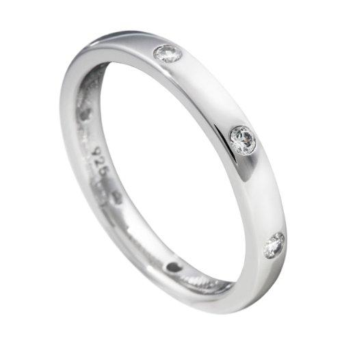 Diamonfire Damen-Ring 925 Sterling Silber Zirkonia Collectible´s weiß Gr.52 (16.6) 61-1538-1-082-52
