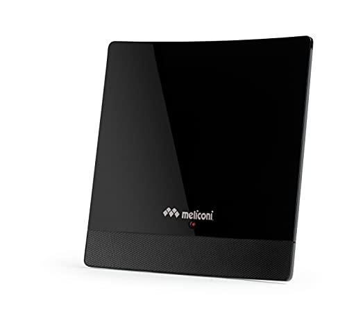 Meliconi-AT 52 Antenne intérieure amplifiée 52 dB Noir