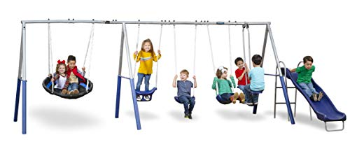 XDP Recreation Fun Forever Swing Set, Gray