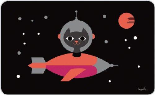 Retro kinderen ontbijtplankje - Ingela Space Cat - The Good Life 14,5 x 23,5 cm