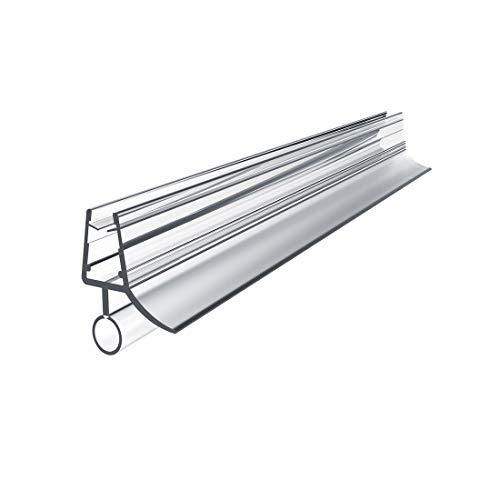 Ersatzdichtung Wasserabweiser Duschdichtung Schwallschutz Duschkabine Bad 4-6mm Glas 80cm