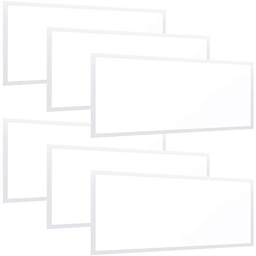 Sunco Lighting 6 Pack LED Ceiling Panel, 2x4 FT, 50W, Dimmable 0-10V, 5500 LM, 5000K Daylight, Flat Backlit Fixture, Direct Wire, Flush or Drop Ceiling Install, Dust Tight Commercial Grade - ETL, DLC