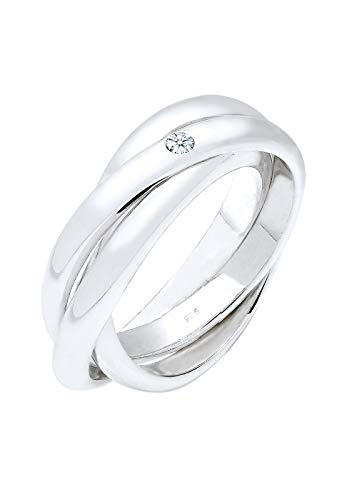 Elli PREMIUM Ring Damen Verlobungsring Diamant 0.03 ct. in 925 Sterling Silber