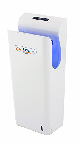 Asciugatore con filtro HEPA, filtro uv Sterilizzazione a secco e un pavimento sistema Jet Dryer Style–Più Veloce e ad alte prestazioni di tipo commerciale–Bianco