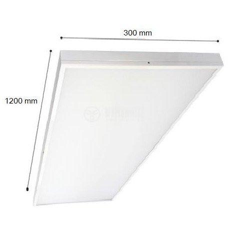 Profi LED Panel 40W Aufputz Aufbaupanel 120x30cm 6400K/4200K/3000K 3200LM (Warmweiß/3000K)