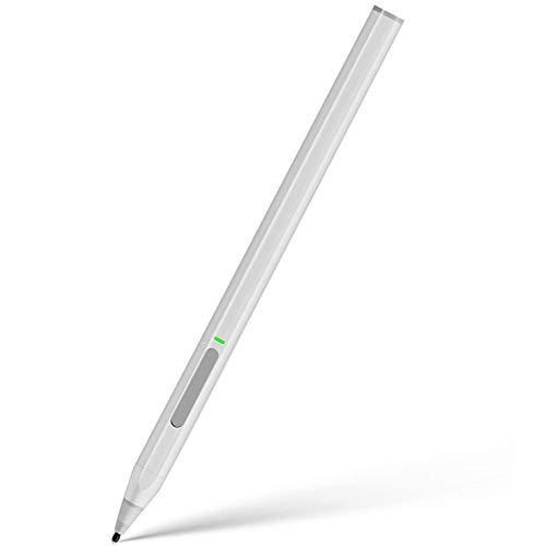 cshare Pen Stilo Ricaricabile con Sensibilità alla Pressione 4096 e rifiuto del Palmo,Compatibile con Surface PRO X/7/6/5/4/3/Laptop/Go/Book (Argento)