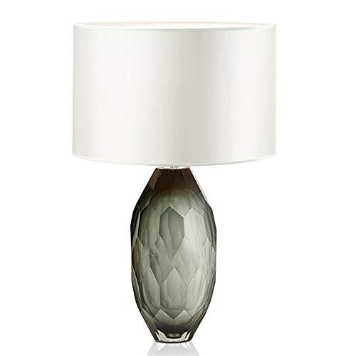 SXNYLY Nordic post-moderna lámpara de noche, ventanal cama Luxury Light lámpara, simple dormitorio lámpara de mesa, utilizado en la sala de estar, estudio, dirigido iluminación decorativa, pantalla de